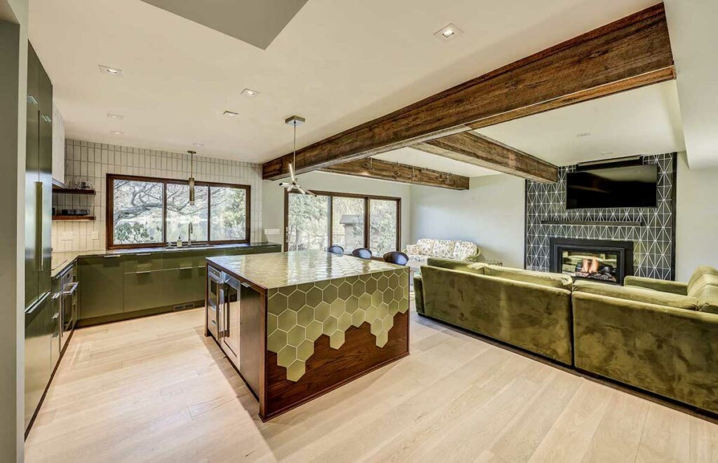 A Unique Modern Basement Remodel for a 1970s Single-Family Home in Bellevue, WA